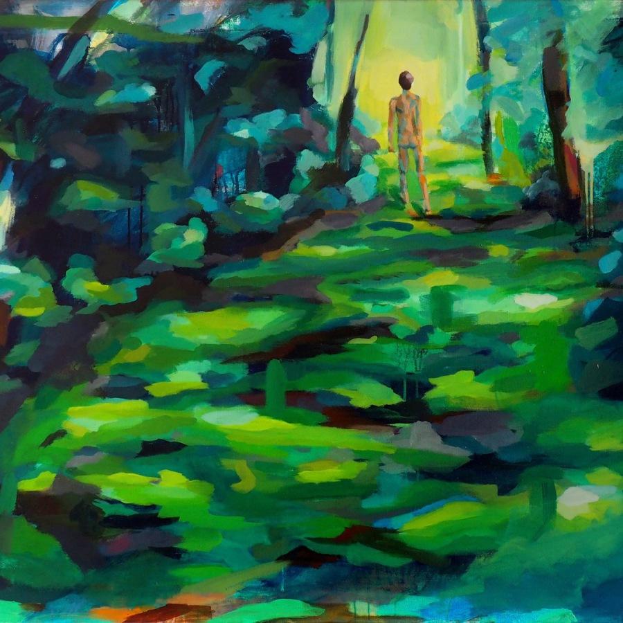 """""""Unbedeckt"""" 95 x 140 cm Acryl on canvas"""